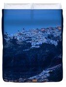 Santorini Greece Duvet Cover