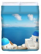 Santorini Island, Greece, Beautiful Duvet Cover