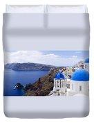 Santorini Panorama 2 Duvet Cover