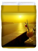 Santorini Sunset Duvet Cover
