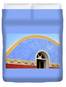 Santorini Window Duvet Cover