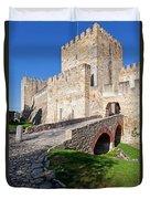 Sao Jorge Castle In Lisbon Duvet Cover