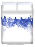 Sao Paulo Skyline In Watercolor On White Background Duvet Cover