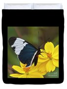 Sapho Longwing Yellow Oriented Duvet Cover