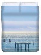 Sapphire Horizon I Duvet Cover