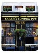 Sarah's London Pub Duvet Cover