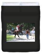 Saratoga Race Track Paddock Duvet Cover