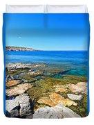 Sardinia - San Pietro Island Duvet Cover