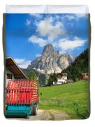 Sassongher Mount From Corvara Duvet Cover