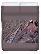 Satellite View Of Big Horn, Wyoming, Usa Duvet Cover