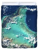 Satellite View Of Turks And Caicos Duvet Cover