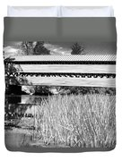 Saucks Bridge And Reeds Duvet Cover