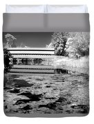 Saucks Bridge - Pond - Bw Duvet Cover