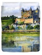 Saumur Chateau France Duvet Cover