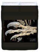 Saurophaganax Dinosaur Claw Fossil Duvet Cover