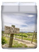 Sauvignon Blanc Grapes Growing In Vineyard Duvet Cover