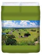 Savanna Landscape In Serengeti Duvet Cover