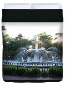 Savannah Georgia Forsyth Park Fountain Duvet Cover