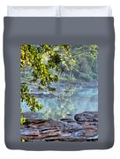 Savannah River In Spring Duvet Cover