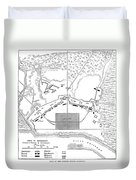Savannah Siege Map, 1779 Duvet Cover