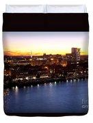 Savannah Skyline At Dusk Duvet Cover