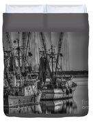 Save The Lowcountry Shrimping  Duvet Cover