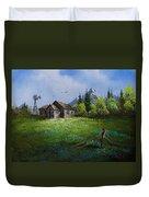 Sawtooth Mountain Homestead Duvet Cover