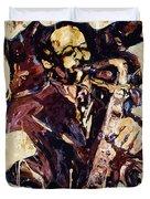 Sax Man One Duvet Cover