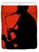Sax On The Bricks Duvet Cover