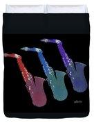 Saxophone 55k Duvet Cover