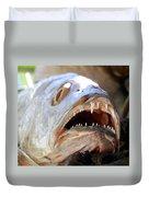 Fanged Fish Say Ahhhhhh Duvet Cover