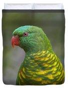 Scaly-breasted Lorikeet Australia Duvet Cover