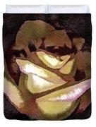 Scanned Rose Water Color Digital Photogram Duvet Cover
