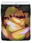 Scanned Rose Water Color Duvet Cover