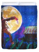 Scarecrow Dancing With The Moon Duvet Cover