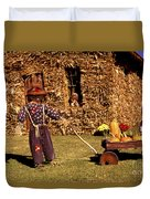 Scarecrows Play Too Duvet Cover
