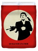 Scarface Poster Duvet Cover by Naxart Studio