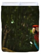 Scarlet Macaw Profile Duvet Cover