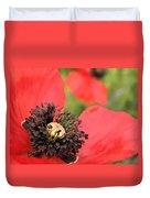 Scarlet Poppy Macro Duvet Cover