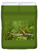 Scarlet Tanager On Snag Duvet Cover