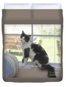 Scarlow Sitting In The Window Duvet Cover