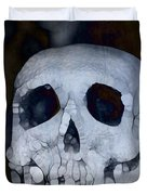 Scary Skull Duvet Cover by Dan Sproul