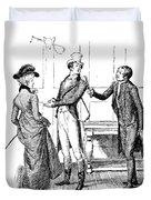 Scene From Pride And Prejudice By Jane Austen Duvet Cover