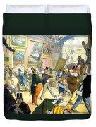 Scene In The Louvre 1911 Duvet Cover