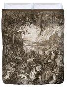 Scene Of Hell, 1731 Duvet Cover