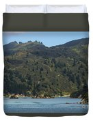 Scenery On Cook Strait Duvet Cover