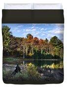 Scenic Autumn At Oakley's Duvet Cover by Christina Rollo