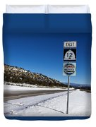 Scenic Highway 12 With Snow Utah Duvet Cover