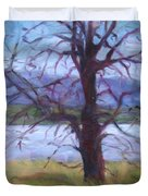 Scenic Landscape Painting Through Tree - Spring Has Sprung - Color Fields - Original Fine Art Duvet Cover