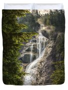 Scenic Of Shannon Fallsbritish Columbia Duvet Cover